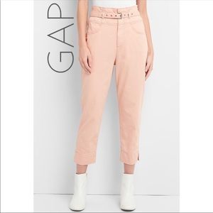 NWT Gap high rise belted chino pants 8 Tall